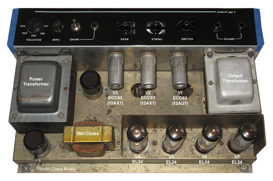 The VOX Showroom - Vox AC-100 MkII Fixed Biased Amp Head - A