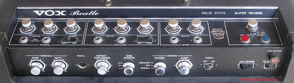 the vox showroom the super beatle and beatle amplifier control panel. Black Bedroom Furniture Sets. Home Design Ideas