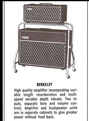the vox showroom the vox berkeley super reverb amp head. Black Bedroom Furniture Sets. Home Design Ideas