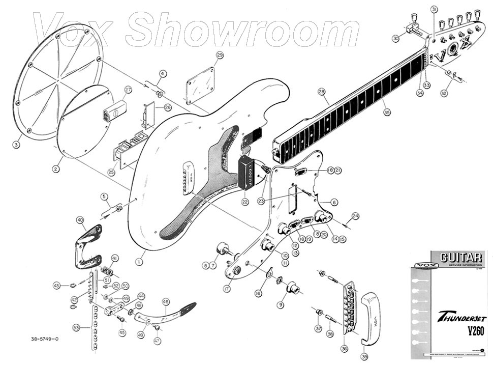 Guitar Parts Diagram Exploded