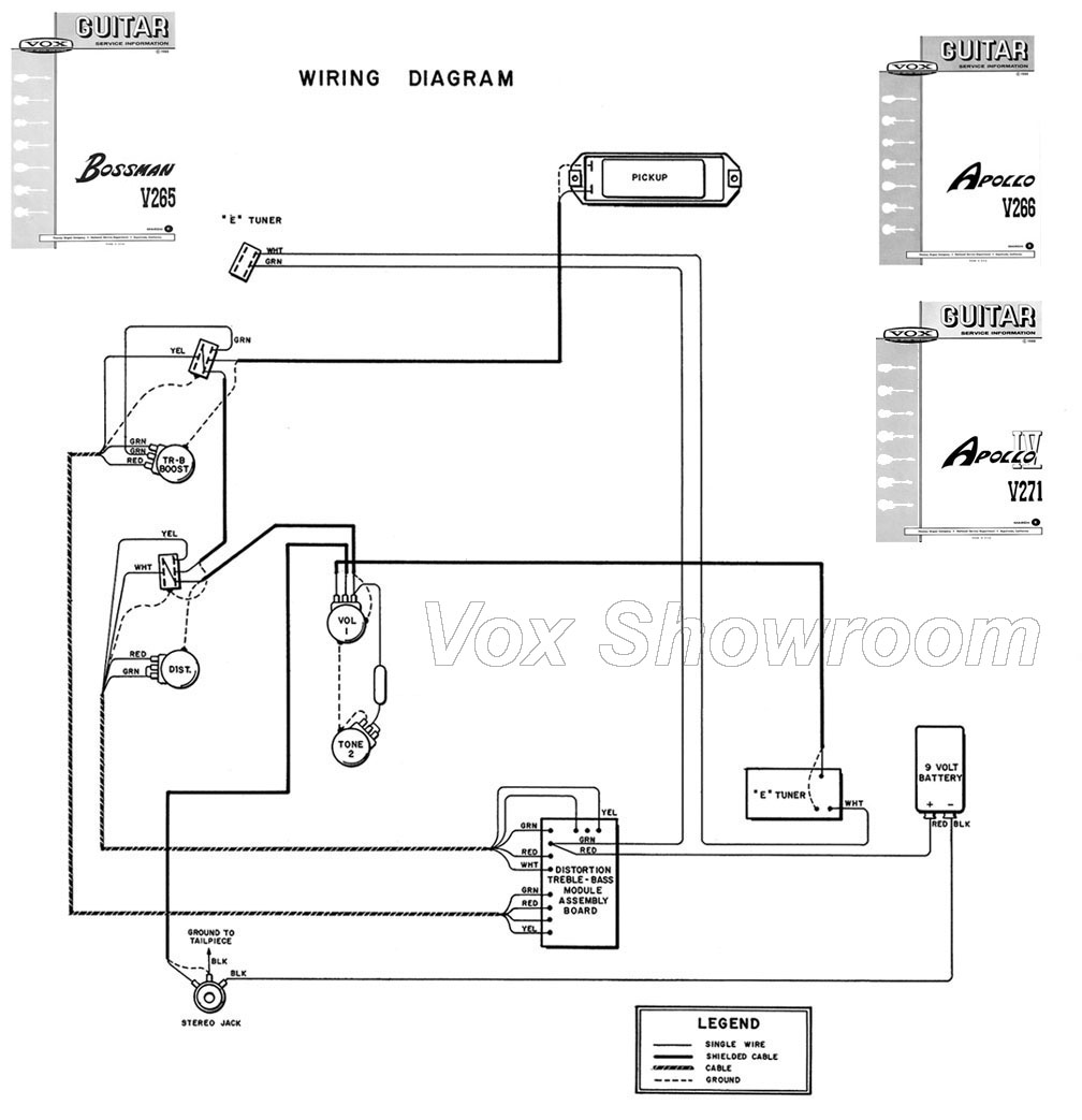 The Vox Showroom Bossman Apolloand Apollo Iv Wiring Diagram Guitar Wire