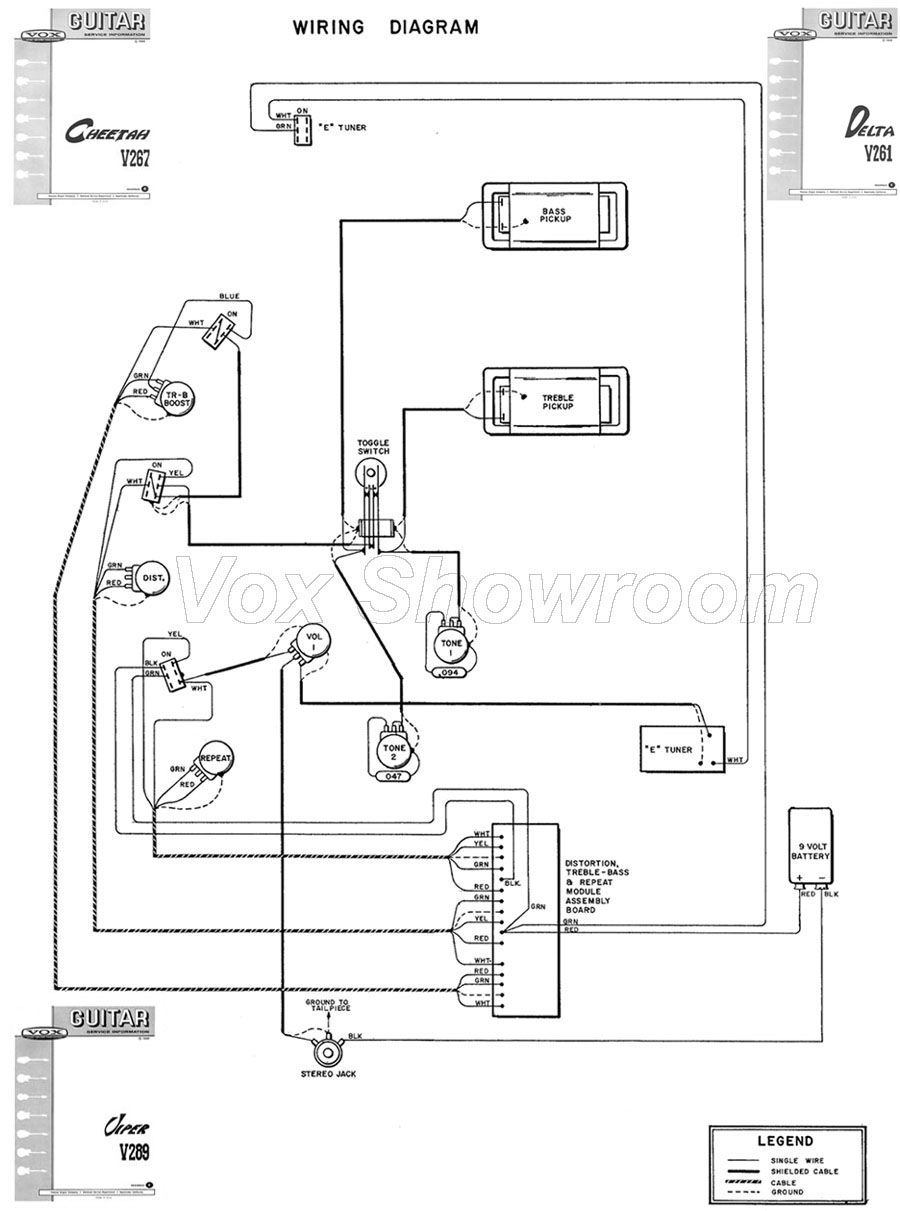 1986 chevy diesel alternator wiring diagram the vox showroom - vox v267 cheetah and v289 viper guitar ... #5