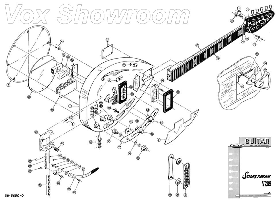 guitar exploded view sketch coloring page
