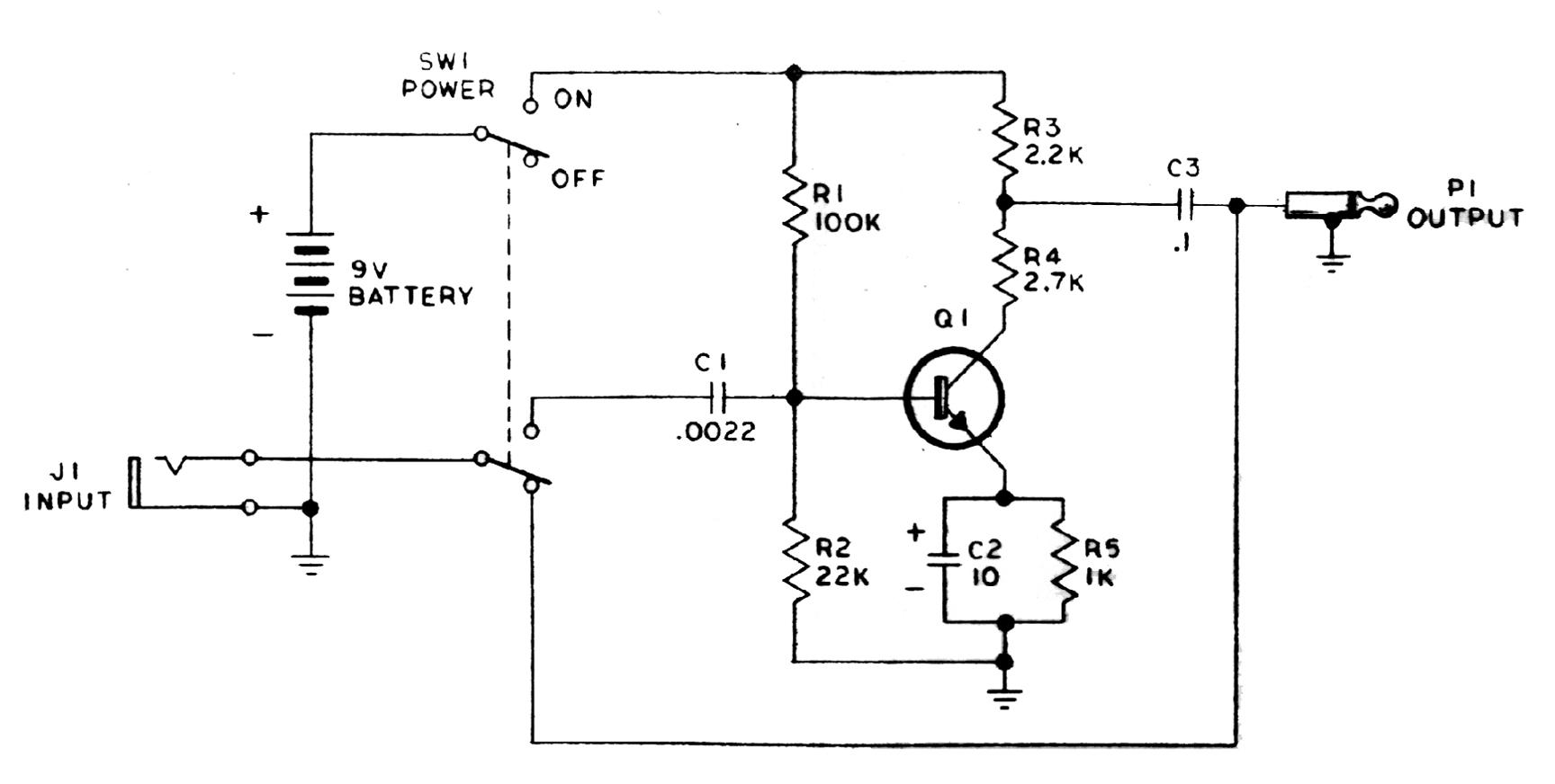 Enjoyable Treble Booster Schematic Basic Electronics Wiring Diagram Wiring 101 Cabaharperaodorg