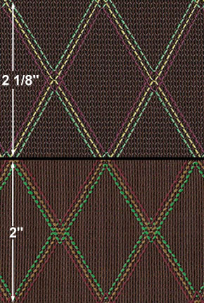 North Coast Music: Fabrics - 1990's Era Brown Vox Fretcloth