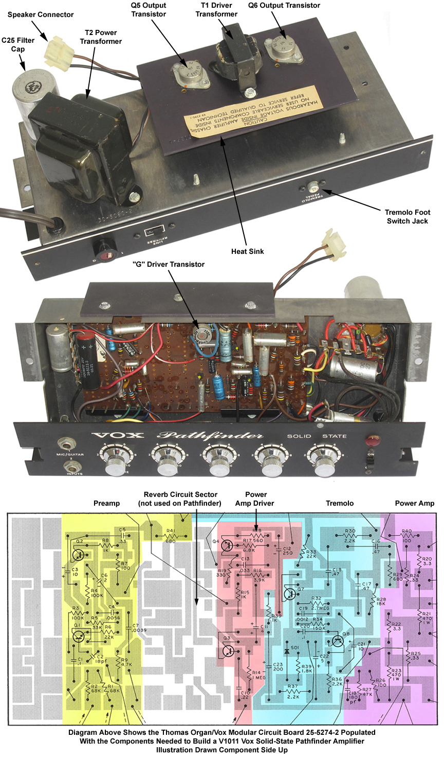 The Vox Showroom V1011 Pathfinder Solid State Amplifiers Amplifier Circuit Board Design A Look Under Hood